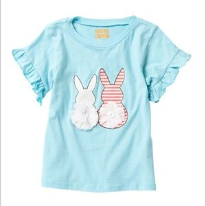 Harper Canyon Blue Gulf Bunny Tails Tee Size 2